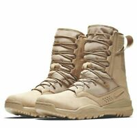 "NIKE SFB FIELD 2 8"" DESERT MILITARY TACTICAL BOOTS TAN/BROWN AO7507-200 NEW"