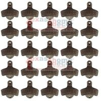 25 Quality Rustic Cast Iron OPEN HERE Wall Mounted Beer Bottle Opener Soda