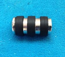 Harley Davidson ISO Anti-Vibe Chrome w/ BLK. Rubber Band Shifter Peg, Multi-Fit
