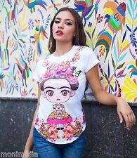 Frida Kahlo Cartoon Shirt Floral Collar