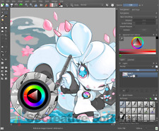 Conjunto de arte ilustrador VFX Software Photoshop CS6 compatible con Open PSD Adobe