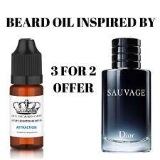Sauvage Inspired Beard Oil More Fragrances 10ml Jax of London