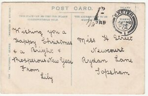 EDVII Halfpenny Postcard, 1d Tax Mark; Lock Katrine; Exeter-Topsham, 24 Dec 1904