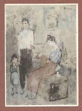Picasso    unusual image,    Family of Acrobats,    Bucheim Postcard      AH509
