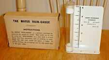Vintage Nos Mayco No. 523 Metal Advertising Rain Gauge w/ Box Claremont, N.H.