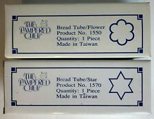 New listing Pampered Chef 2 Pc Lot Bread Tubes # 1550 Flower # 1570 Star New In Box