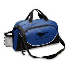 Ford Mustang Large Travel Blue Black Carry Duffel Bag