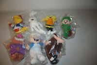 1998 General Mills Breakfast Pals Beanies Plush Complete Set Of 7 Brand New