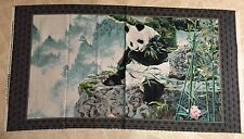 Imperial Panda 100% cotton fabric Panel approx 24 X 44 inches Panda Bear