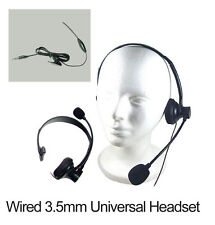 3.5mm Over the Head Handsfree Headset with Boom Mic for Office Call Center Phone