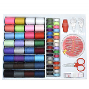 Renashed Sewing Kit with 100 Basic Sewing Accessories, 64 Spools of Thread Mini