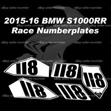 trackday or race numberplate decal sticker set fits a bmw  s1000rr 2015 2016