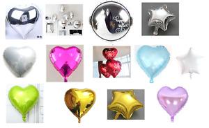 Wedding & Engagement Helium Foil Balloons - Large 45cm/18'' - round, heart, star