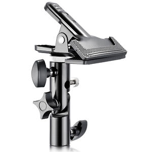 """Neewer Metal Clamp Holder with 5/8"""" Light Stand Attachment for Reflector"""