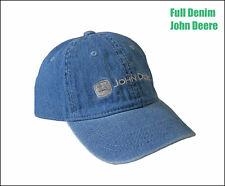 Nuevo con licencia no estructurados Denim John Deere Jean Cap sombrero azul algodón lavado