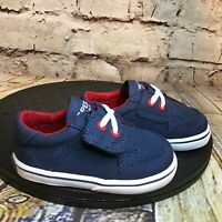 Sperry Top Sider Trysail Crib Jr Navy Blue Baby Infant Shoes Size 2 M
