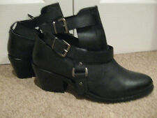 Topshop Ankle 100% Leather Cuban Heel Boots for Women