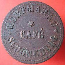 Old Rare Deutsche token -CAFE SCHONEBERG (now Berlin) -UNLISTED -mehr am ebay.pl
