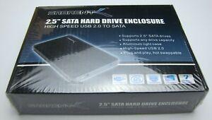 """Sabrent EC-UST25 USB 2.0 Aluminum External 2.5"""" SATA HDD Hard Drive Enclosure"""