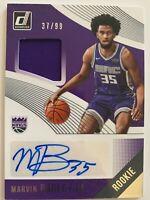 2018-19 NBA Donruss RC Rookie Jersey Auto Marvin Bagley III /99 Kings Duke