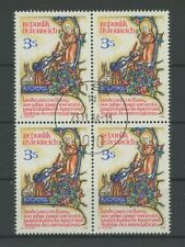 AUSTRIA 1982 SAINT ST. FRANCIS OF ASSISI block of 4 used h3579