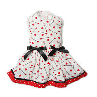 Hearts Arrows Dog Dress Little Dog Clothes Small Dog Teacup Sizes XXS XXS XS S M