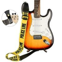 Einstellbarer Polyester-Gitarrengurt mit PU-Lederenden L8W4 für E-Bass S0O2 M5W7