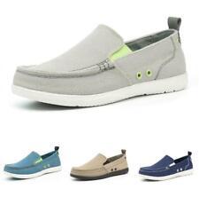 Men's Canvas Pumps Loafers Shoes Pumps Slip on Driving Moccasins Flats Casual D