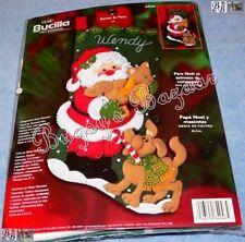 Bucilla SANTA & PETS Dog & Cat Stocking Felt Applique Christmas Kit - 84948
