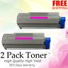 2 PK Magenta Toner for Okidata Oki C5500 C5800 C5900 C5500N 43324402 HIGH YIELD