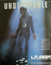 MICHAEL JACKSON ADVERT POSTER L.A GEAR ORIGINAL NOT REPRINT 1990 RARE