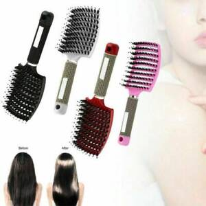 Women Bristle Nylon Hairbrush Scalp Massage Comb Detangle Hair Brush Salon*