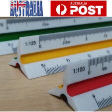 Plastic Engineer Triangular Metric Scale Ruler  1:100~1:500 Multicolour 300mm AU