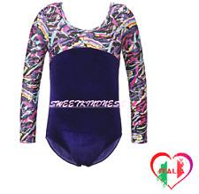 Body Danza Bambine Balletto Maniche Lunghe Ginnastica Artistica Ragazze  TuTu
