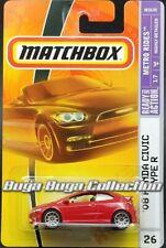 Matchbox Metro Rides #26 '08 Honda Civic Type R Red