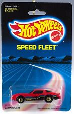 Hot Wheels Speed Fleet Camaro Z-28 Red With Gold Hot Ones New On Card 1987