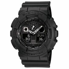 G-SHOCK GA100-1A1 Black Military Series Watch Casio Mens New Free Shipping
