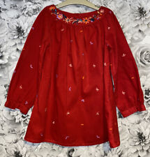 Girls Age 5-6 Years - Long Sleeved Fine Cord Smock Dress From M&S