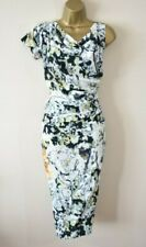 £475 NEW VIVIENNE WESTWOOD SHAMAN 40 Abstract Silk Ruched Party Pencil Dress