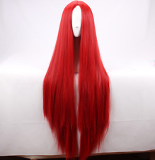 100cm Long straight red Cosplay Wigs The Nightmare Before Christmas Sally wig