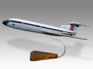 Hawker Siddeley HS-121 Trident BEA Solid Mahogany Replica Airplane Desktop Model