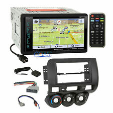 Soundstream Sirius GPS Bluetooth Stereo Dash Kit Harness for 2007-08 Honda Fit