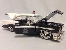 1956 Chevrolet Bel Air Police Car, 1:24 Diecast By Jada Dub City Heat