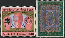 ALGERIE N°525/526** Année Internationale de l'Education,1970, ALGERIA MNH