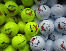 12 neue gelbe und weiße Srixon Distance Golfbälle mit dem Shark  Logo