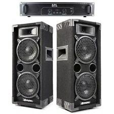 SISTEMA AUDIO AMPLIFICATO 2 casse 600w + 1 amplificatore + cavi ART. CP170664SPL