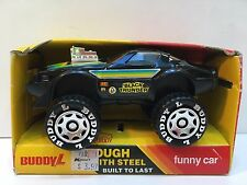 Buddy L 1984 Brute Funny Car Plastic Toy, Black Thunder, New, Loose in Box