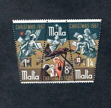 Malta Republic 1967 Christmas tritych 3 values M  LH  378