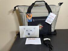Nwt Polar Bear Coolers 12 Pack Original Nylon Soft Cooler Silver Gray Black