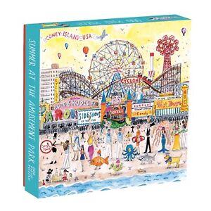 Michael Storrings Summer at the amusement Park500 Piece Puzzle by Galison